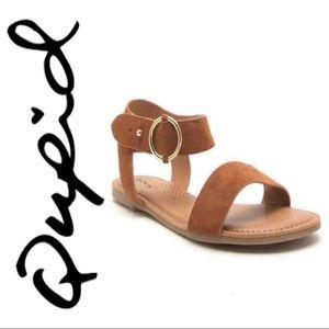 Qupid • Archer Chestnut Sandals
